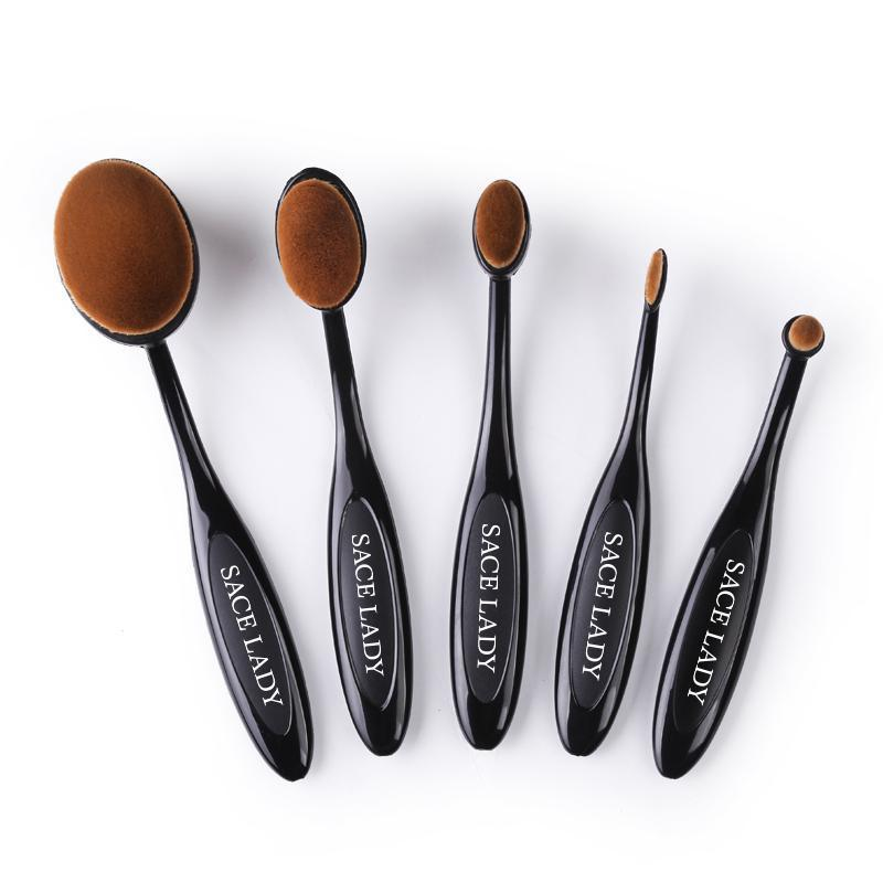 Round Makeup Brushes Set