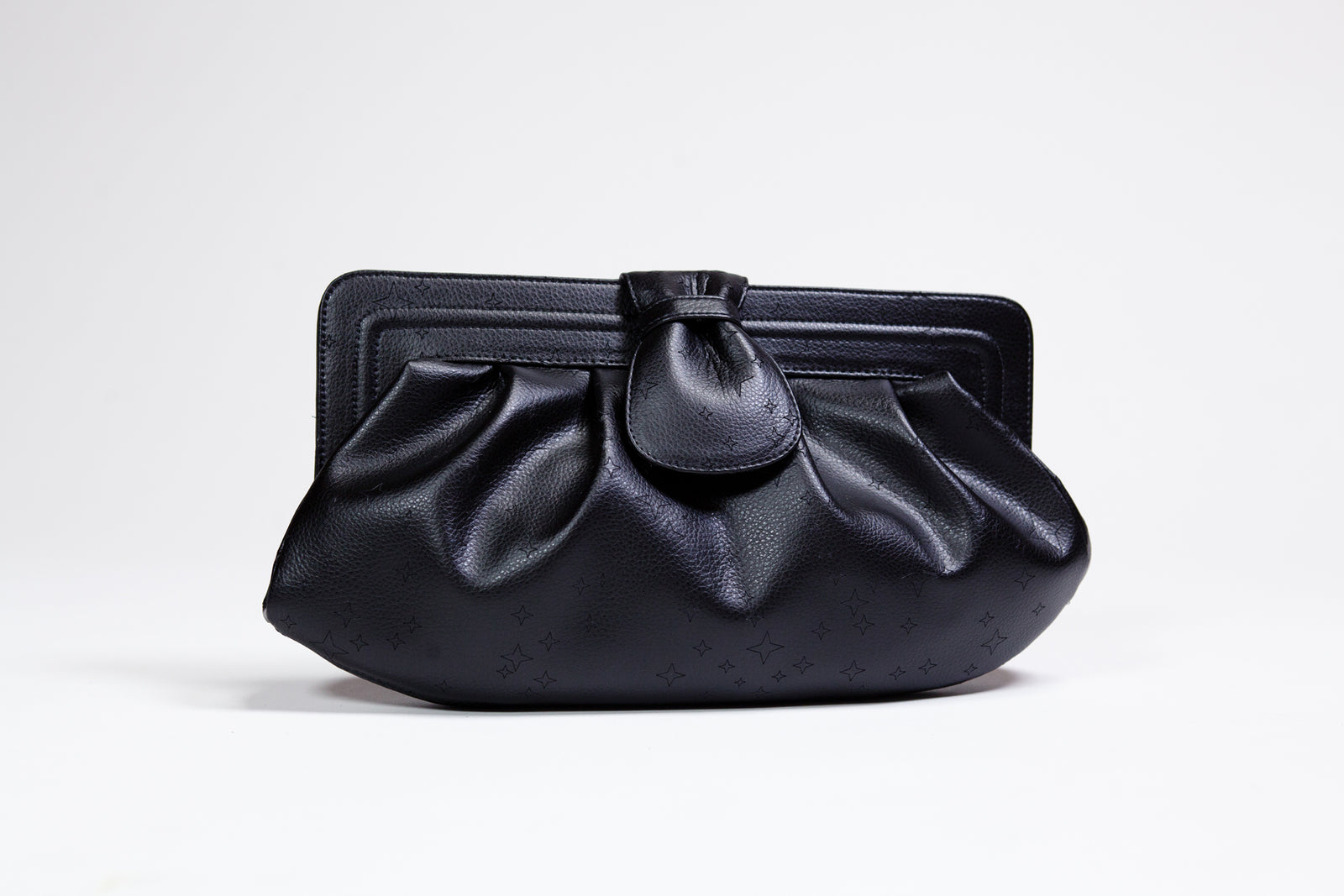 Pleated Clutch with Venus Star Cluster
