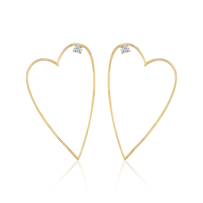 Large Open Heart Earring