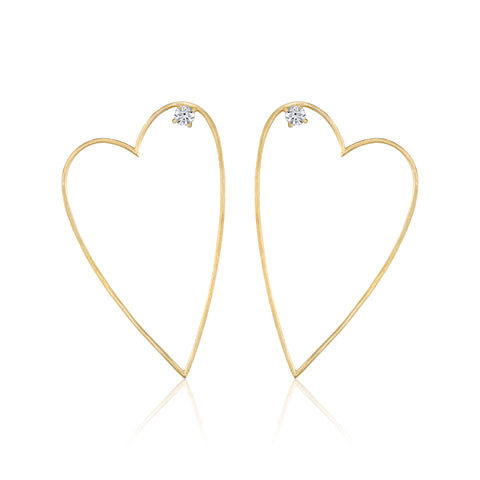 Medium Open Heart Earring