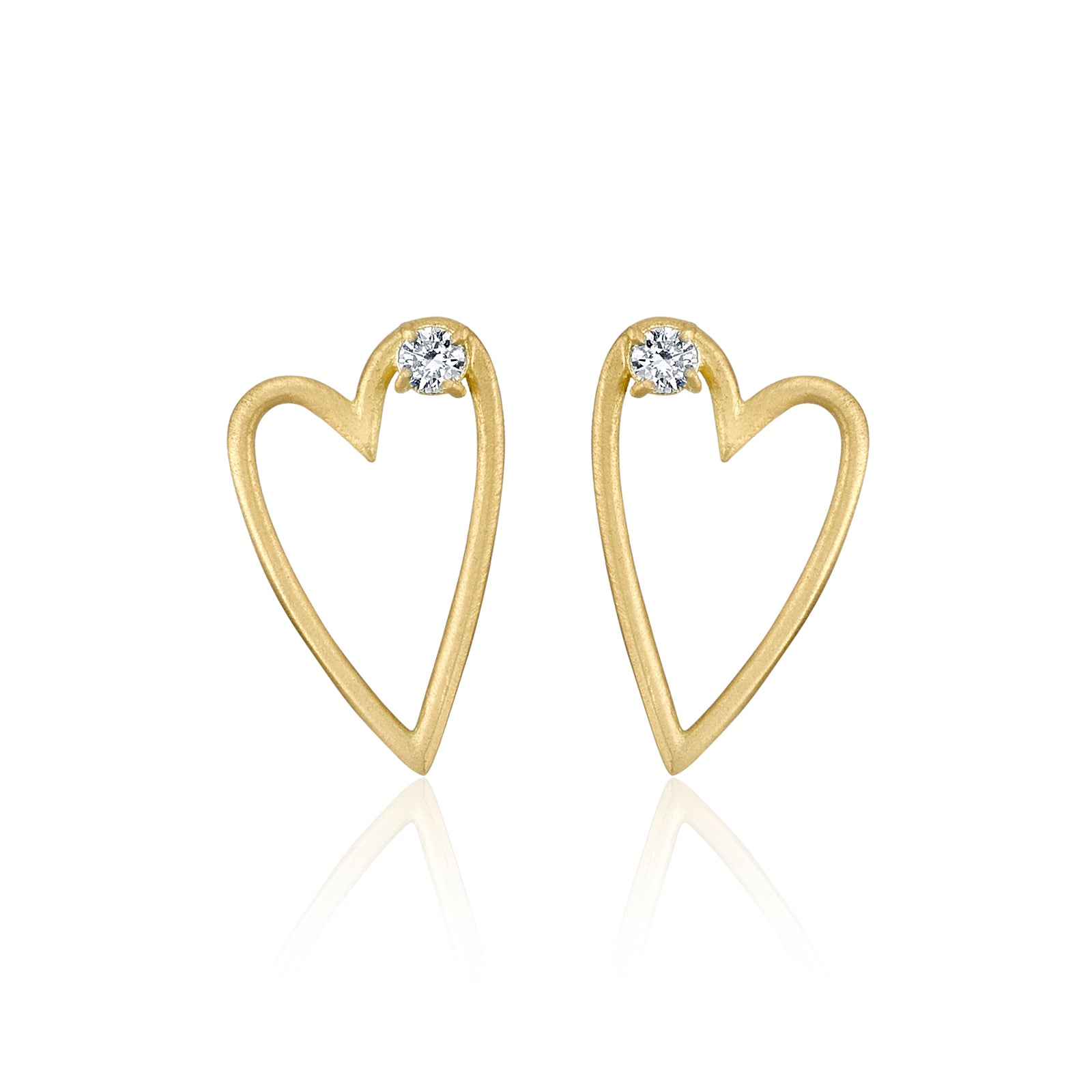 Small Open Heart Earring