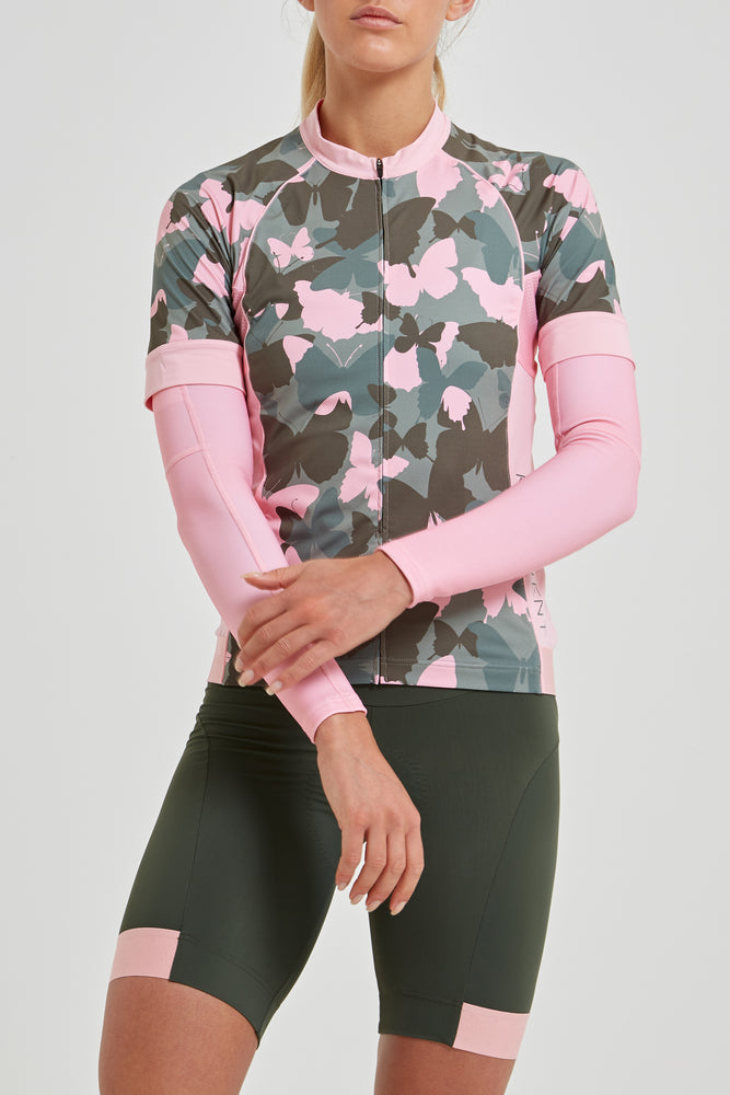 Shield Sleeves Arm Warmers (Solid Pink)
