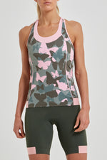 Power T-Back Tank Top (Butterfly Camo Print)