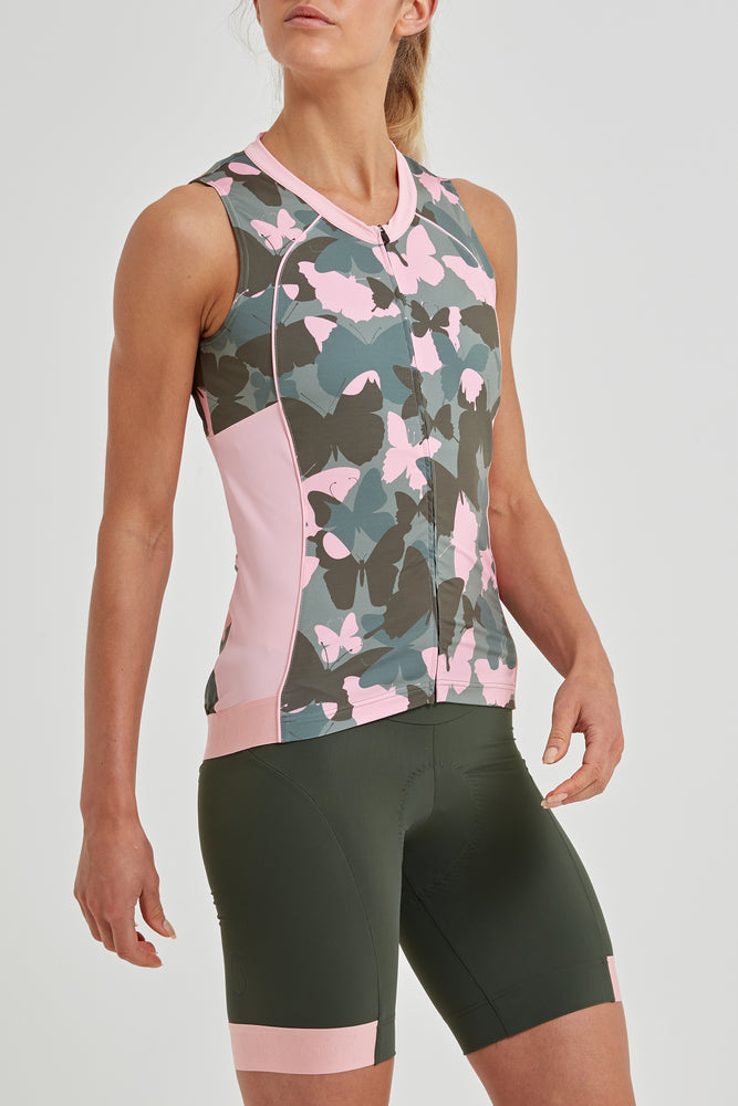 Tempo Sleeveless Jersey (Butterfly Print)