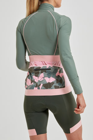 Stealth Midi Cropped Jacket Khaki (matches Butterfly print)