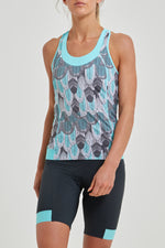 Power T-Back Tank Top (Feather Print)