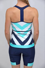 Power T-Back Tank Top (Caprio Mint Chevron print)