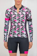 Shield Sleeves Arm Warmers (Pink Flutter Print)