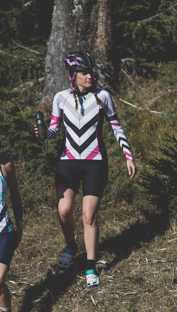 Shield Sleeves Arm Warmers (Caprio Pink Chevron print)