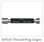 British Thread Plug Gages