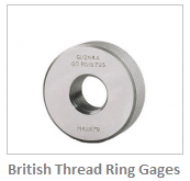 British Thread Ring Gages