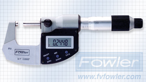 TOOL-A-THON SPECIAL - Fowler Electronic Micrometers - 0 - 1 Inch/25mm - IP54 - Ratchet