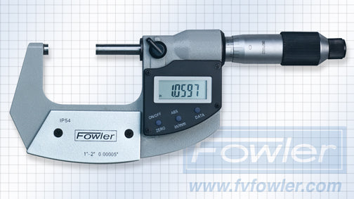 Fowler Electronic Micrometers - 1 - 2 Inch/25 - 50mm - Economy - Friction