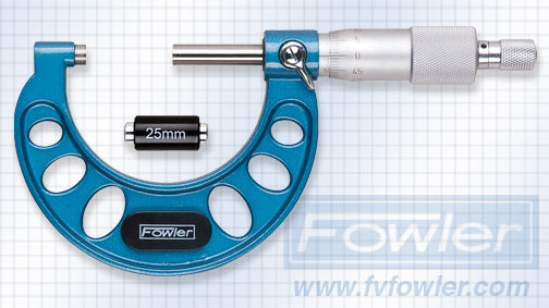 Fowler Standard Micrometers - 25 - 50mm - Metric - .01mm