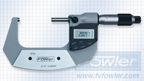 Fowler Electronic Micrometers - 2 - 3 Inch/50 - 75mm - Economy - Friction