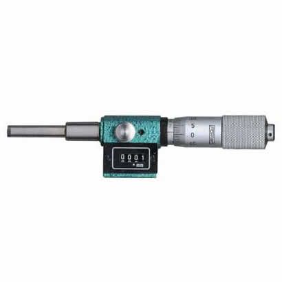 Fowler Digital Micrometers - 0 - 1 Inch - .0001 Inch - Head - Length: 5.25 Inch, Mount.Shoulder Dia: .394 Inch,Mount