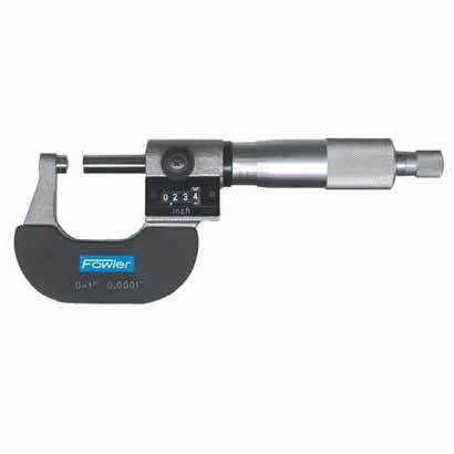 TOOL-A-THON SPECIAL - Fowler Digital Micrometers - 0 - 75mm - .0001 Inch - Economy - Ratchet