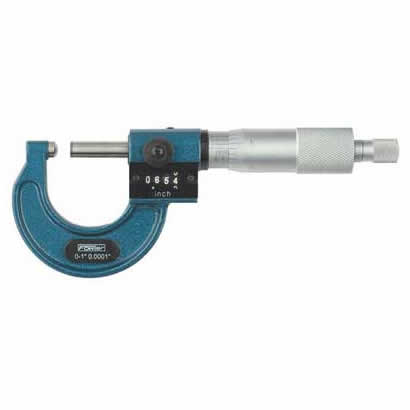 Fowler Digital Micrometers - 0 - 1 Inch - .0001 Inch - Ball - Anvil