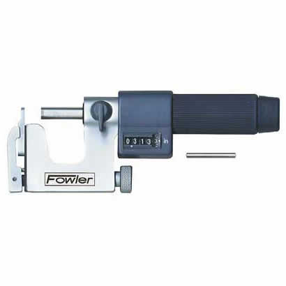 Fowler EZ  Read Micrometers - 0 - 1 Inch - .0001 Inch - Inch - Multi  Anvil - Friction
