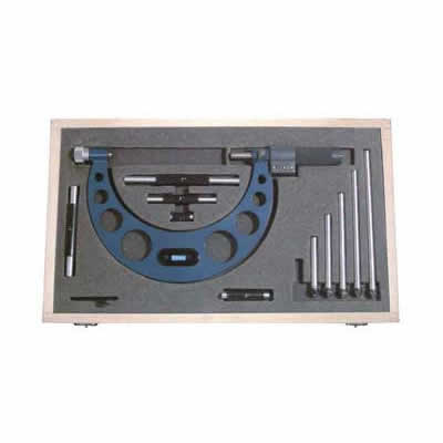 Fowler EZ  Read Micrometers - 0 - 6 Inch - .0001 Inch - Inch - Interchangeable Anvil - Friction - .0003 Inch