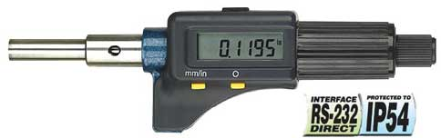 Fowler Electronic Micrometers - 0 - 1 Inch/25mm - Head