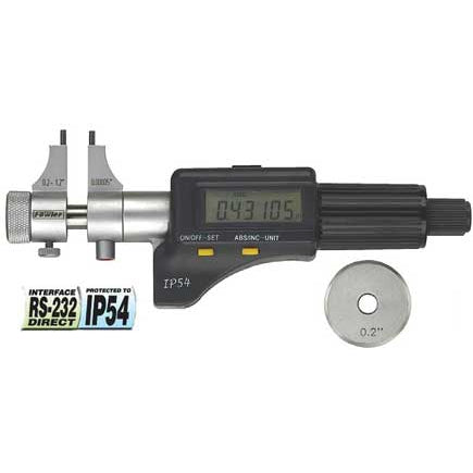 Fowler Electronic Micrometers - .2 - 1.2 Inch - .00005 Inch/.001mm - Inside - Friction