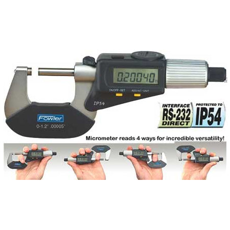 TOOL-A-THON SPECIAL - Fowler Electronic Micrometers - 1 - 2 Inch/25 - 50mm - IP54 - Friction