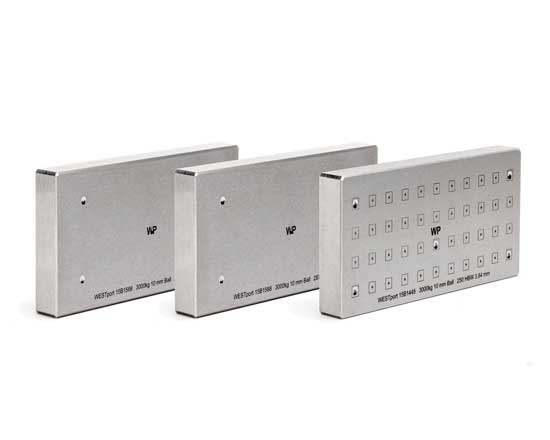 Brinell Test Blocks 1500kg, 260-279