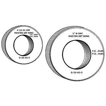 Master Setting Rings - M5 x .8 - Metric - 3/8