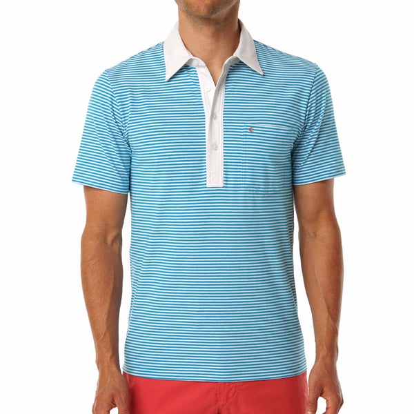 Stretch Players Shirt - The Nelson Stripe - Blue
