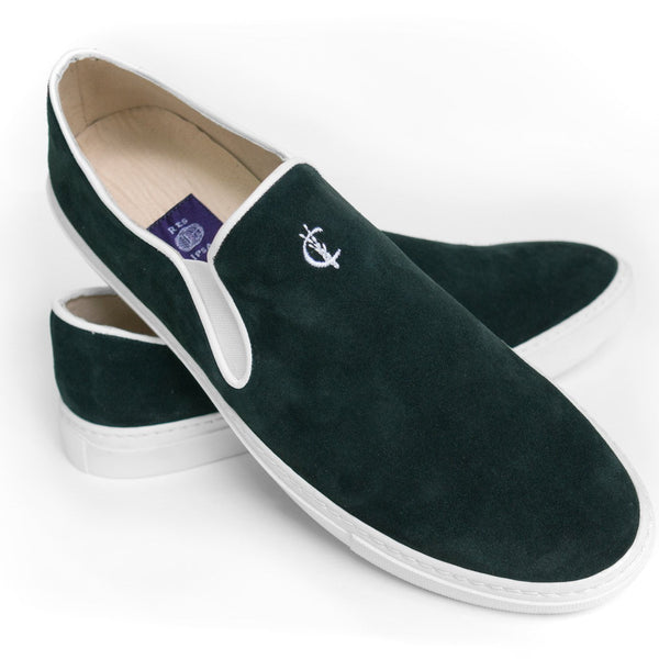Criquet X Res Ipsa Sneakers - Green Suede
