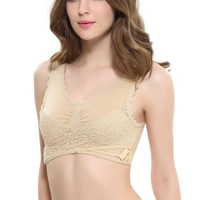 Front Cross Wireless Bra
