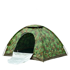 4 Person Camouflage Camping Tent 200x200x130cm Outdoor Camp Folding Hiking Tenda Single layer beach tente bivvy tourist tents