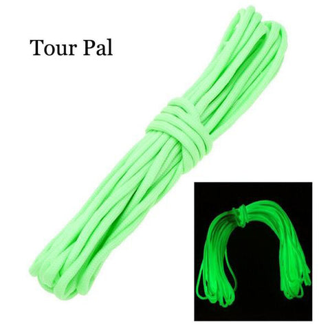 TOUR PAL 32FT 10M 550Lb Luminous Glow in the Dark Nylon Cord Rope Paracord Parachute Tent Rope For Outdoor Camping Equipment