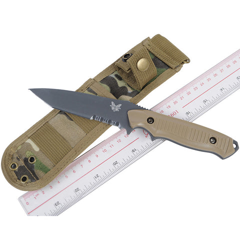 EMERSON Tactical Straight Knife (Dummy) with Multicam Nylon Knife Shealth Knife Model And Pouch For Outdoor Hunting Decoration