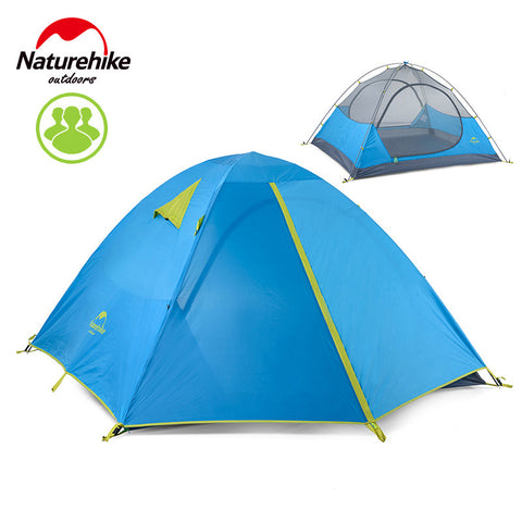 Naturehike 3 Person 3 Season Tent Double Layer Windproof Waterproof Tent Camping Family Tent Dome Tent