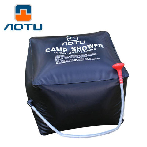 40L Outdoor Camping Shower Bag Foldable Solar Energy Heated Camp PVC Water Bag Travel Hiking Climbing BBQ Picnic Water Storage