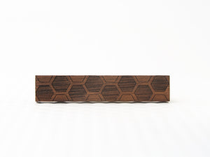 Hex Etch Tie Bar | small