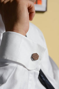 Hexagon Cuff Link