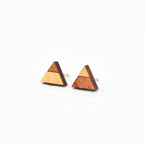 Mini Triangle Etch Stud