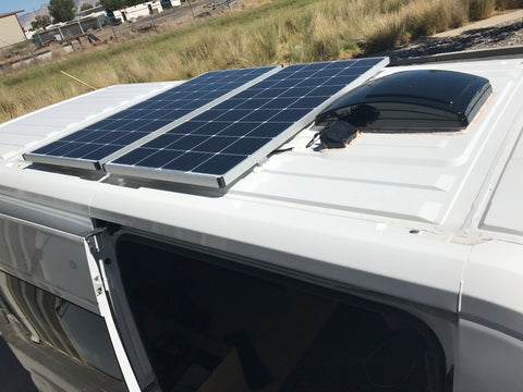 Van Conversion Solar Panel Installation