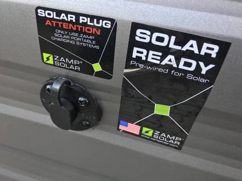 Zamp Solar solar ready sidewall port on Forest river travel trailer