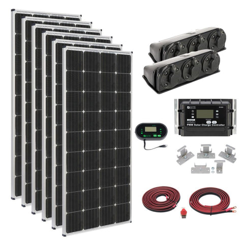 Zamp Solar 1020 Watt Roof Mount Kit KIT1014