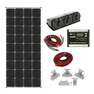 Zamp Solar 170 Watt Dual Battery Bank Roof Mount Kit