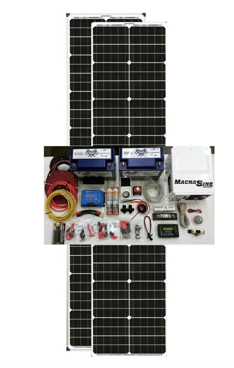 Van Conversion Solar Kit 180 Watt With Long Narrow Panels
