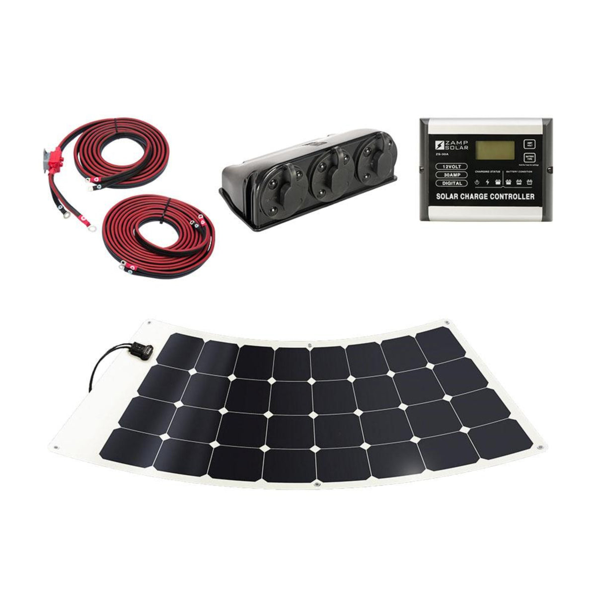 Zamp 100 Watt Flexi Deluxe Solar Kit Back Country Solar