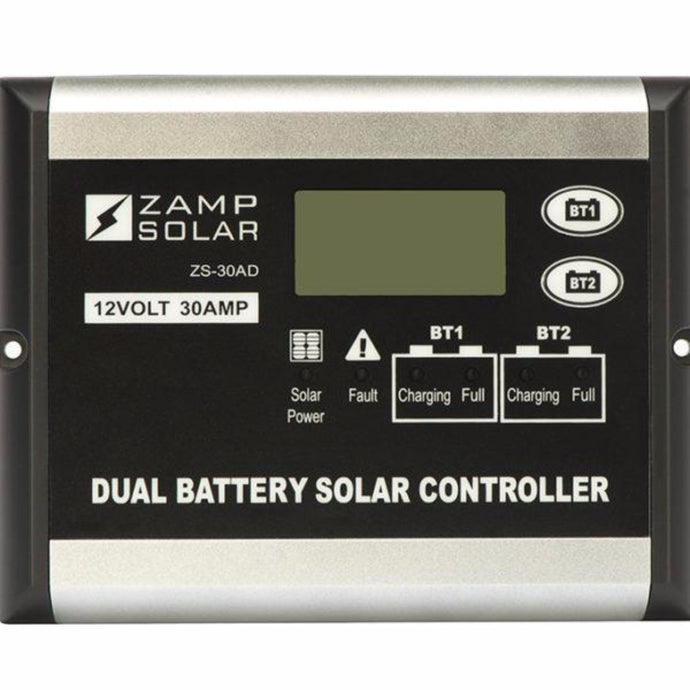 Zamp 30 Amp Digital Dual Battery Bank Solar Controller