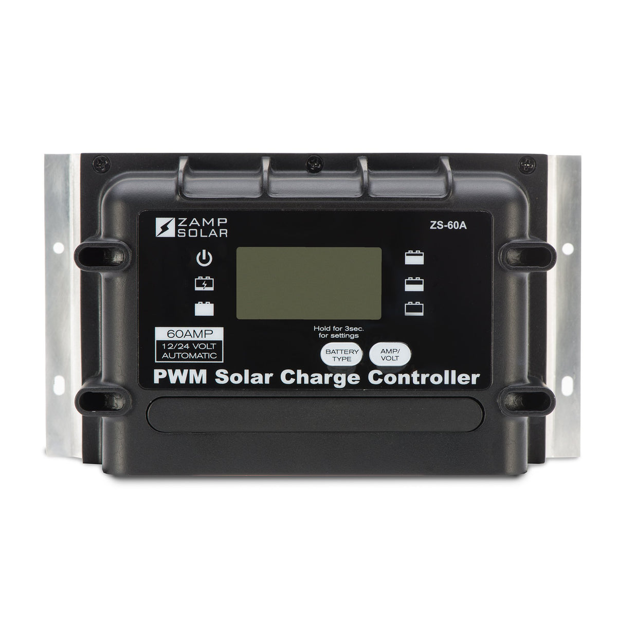 Zamp 60 Amp Digital Deluxe Solar Charge Controller Back
