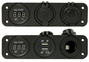 Dual Power Distribution Port With Volt Meter