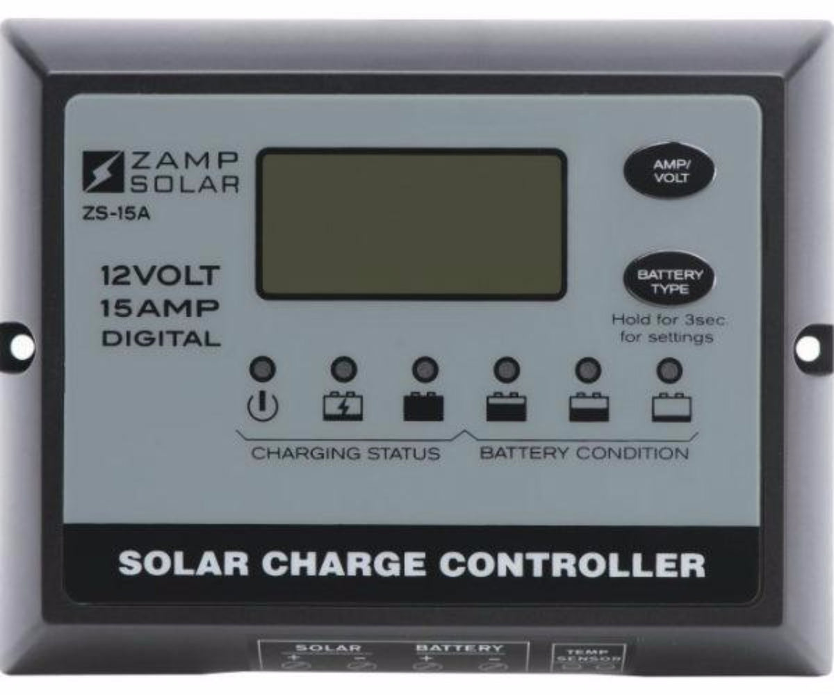 Zamp Digital Deluxe Solar Charge Controller 15 Amp Back